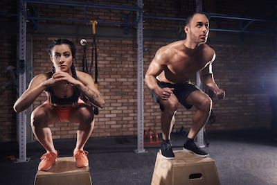 Shot of crossfit in motion