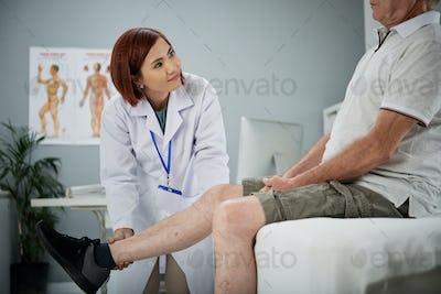 Working with senior patient