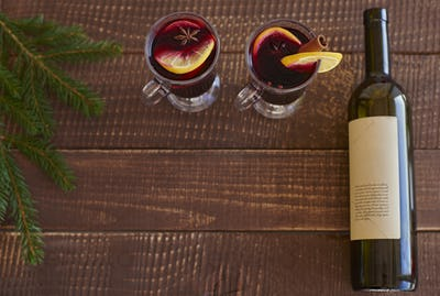 Spend some time with glass of mulled wine