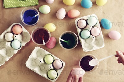 Dyeing eggs is one of the Easter traditions