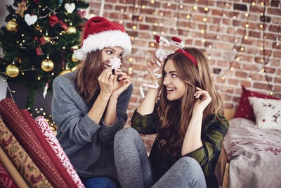 Nonsense while preparing christmas decorations
