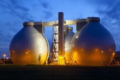 Sewage Plant At Night