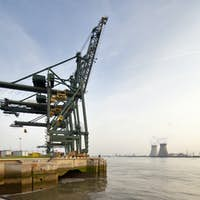 Container Harbor And Power Station