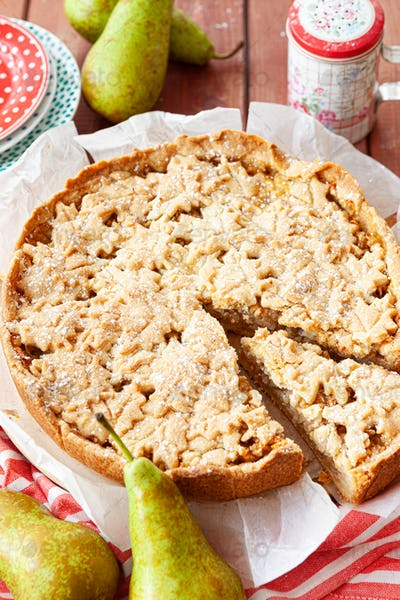 Homemade apple pear cake