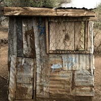 Little shop made with sheet metal, Africa, Tanzania