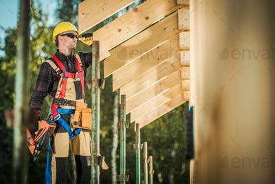 Worker with Nail Gun