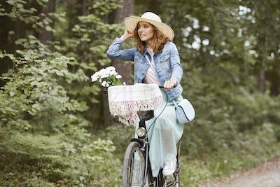 Summer trip by urban bike