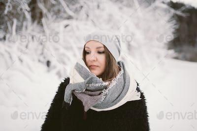 Woman on a snow