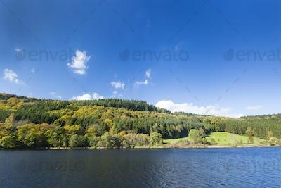Lake Rursee in Autumn, Germany, Eifel