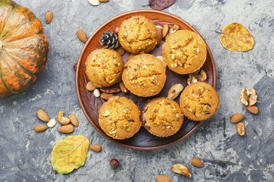 Homemade pumpkin muffins