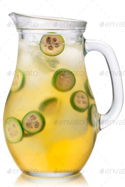 Iced feijoa lemonade jug, paths