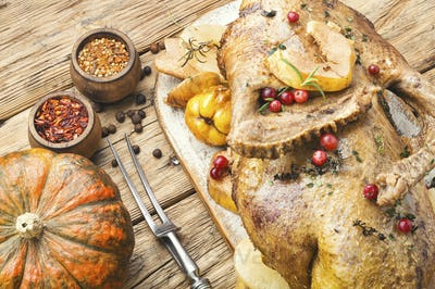 Festive baked duck