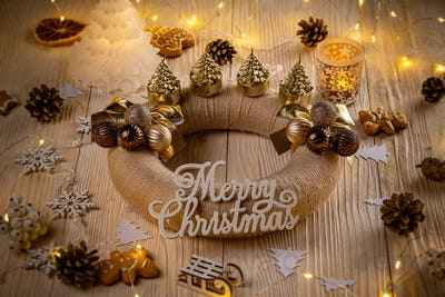 Holiday background with Advent wreath
