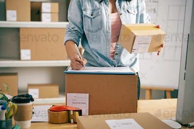 Writing parcel data