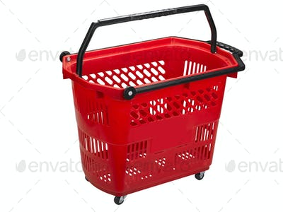 Shopping cart , clipping path