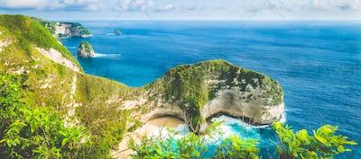 Karang Dawa, Manta Bay or Kelingking Beach on Nusa Penida Island, Bali, Indonesia