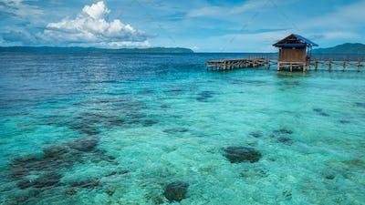 Pier on Arborek Island - Raja Ampat, West Papua, Indonesia