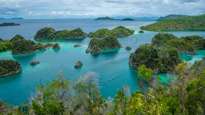 Painemo Island,Blue Lagoon, Raja Ampat, West Papua, Indonesia
