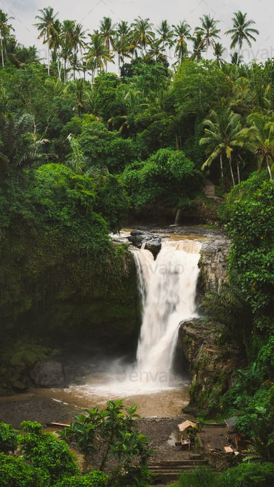 Tegenungan Waterfall. Ubud in Bali, Indonesia