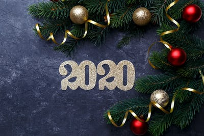 New Year 2020 card template