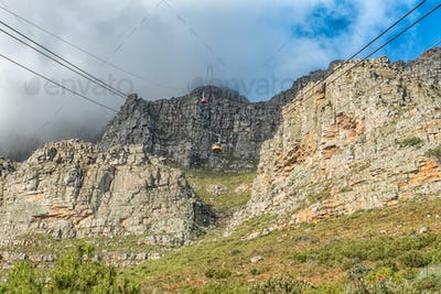 Viiew of the Table Mountain Cableway