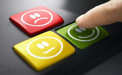 Direct Measure Of Customer Service Satisfaction. Push Button Survey