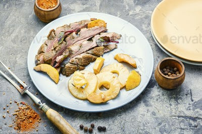 Delicious roasted duck breast