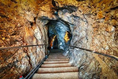 Underground limestone caves