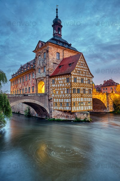 The Old Town Hall of Bamberg in Bavaria