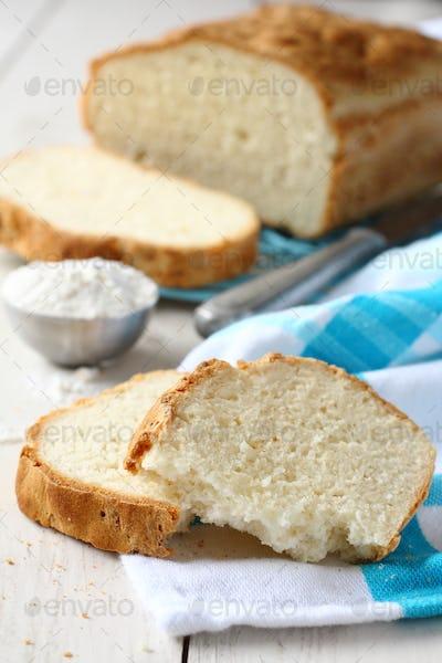 Slices of homemade gluten free bread