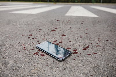 Blood on the phone