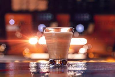Latte coffee glass