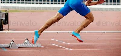 male runner start sprint