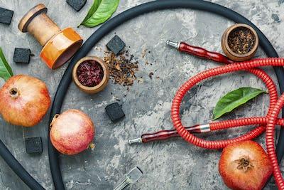 Modern hookah with fruit