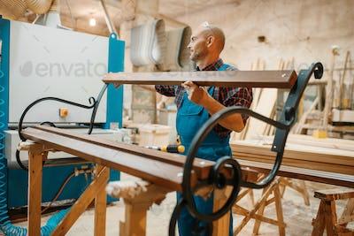 Carpenter, wooden bench manufacturing, joiner job