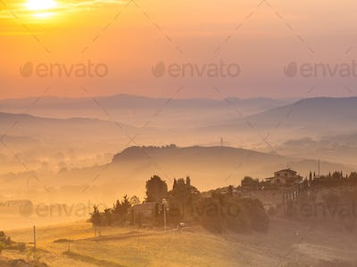 Tuscan Country Scenery color