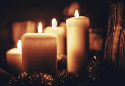 Season Greetings Candles
