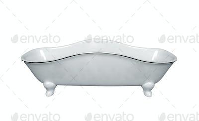 Luxury vintage bathtub isolated on white