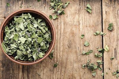 Dried oregano herb