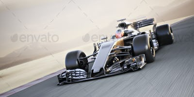 Race car with blur
