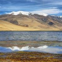 Tso Moriri lake in Rupshu valley in Ladakh, India