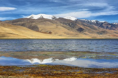 Tso Moriri lake in Rupshu valley in Ladakh, India