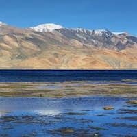 Tso Moriri lake in Rupshu valley, Ladakh, India
