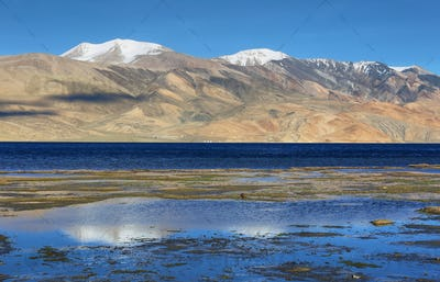 Tso Moriri lake in Rupshu valley, Ladakh, India