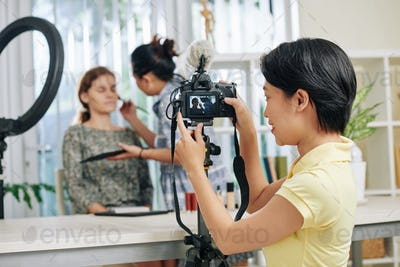 Make-up video shooting