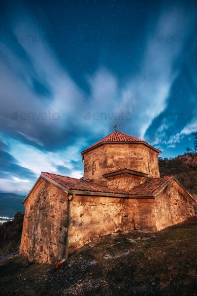 Mtskheta, Georgia. Shio-mgvime Monastery. Church Of Holy Virgin Or Theotokos In Medieval Monastic