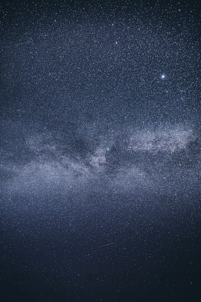 Real Blue Night Sky Stars With Milky Way Galaxy. Natural Starry Sky Background