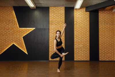 Contemporary dance performer, woman in studio