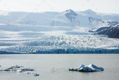 Iceberg And Glacier, Iceland
