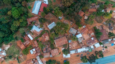 Aerial view of the Morogoro town in  Tanzania